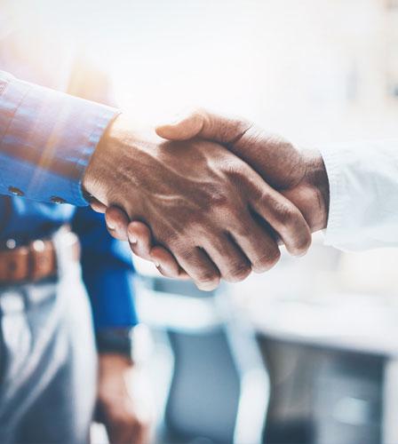 Businessmans handshake
